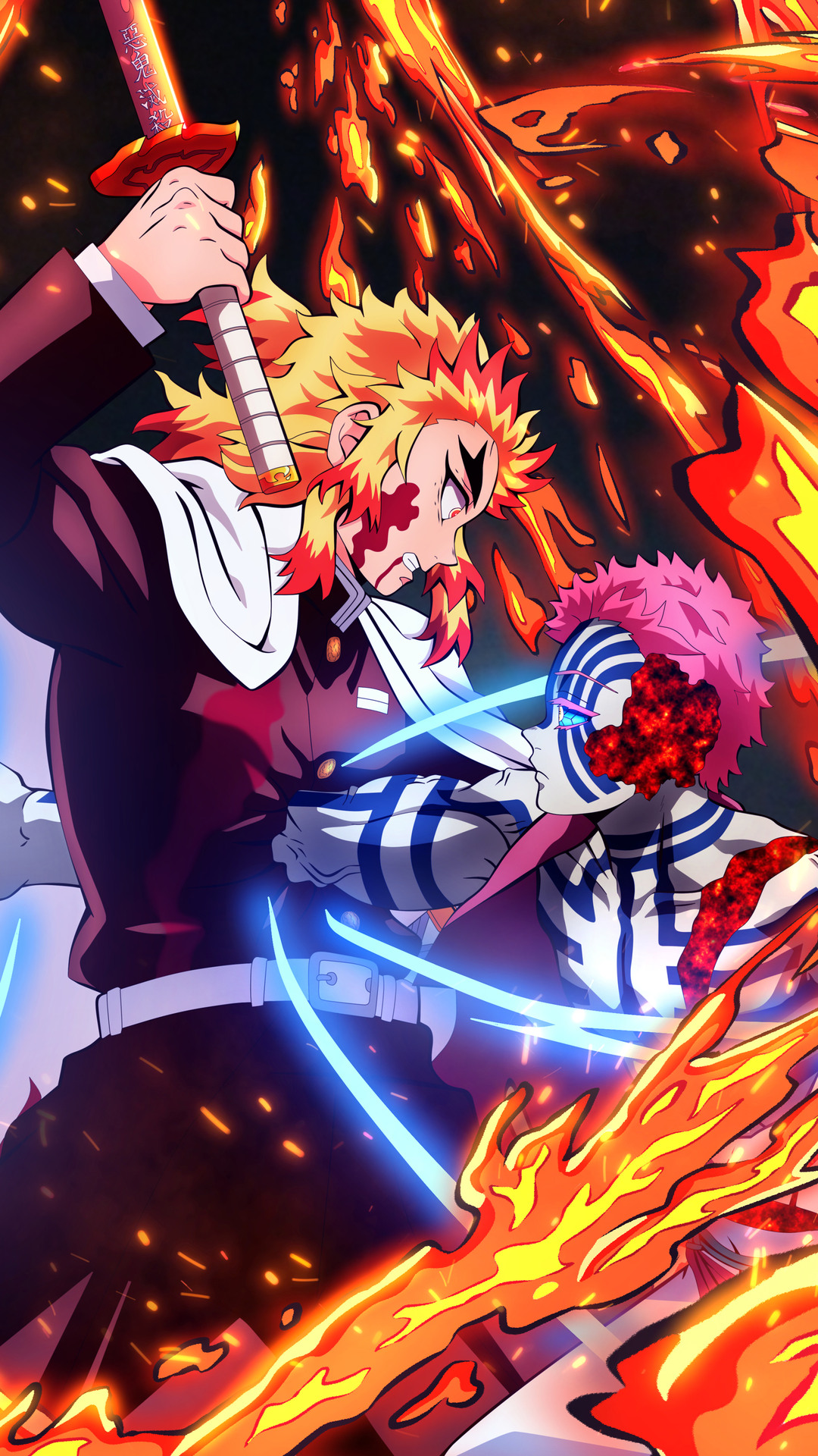 Demon Slayer Kyojuro Rengoku vs. Akaza