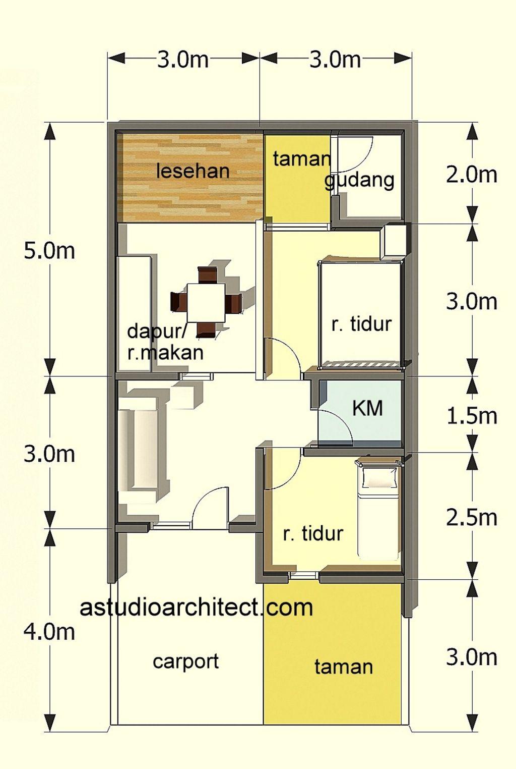 Sketsa Denah Rumah Luas 72 Populer