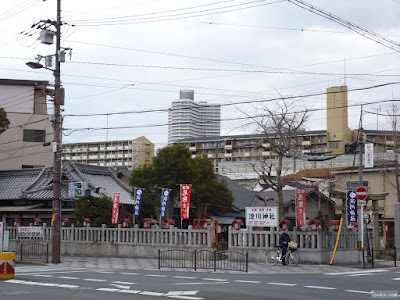 淀川神社看板