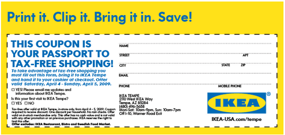 Ikea coupons codes