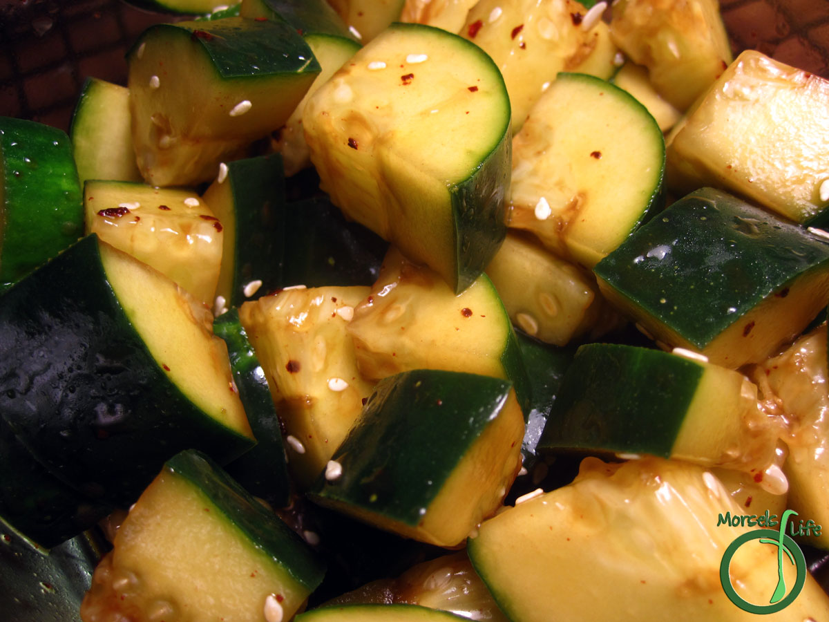 Morsels of Life - Sweet and Tangy Cucumber Salad - A simple and refreshingly tangy cucumber salad with rice vinegar, soy sauce, sesame, and lots of flavor.