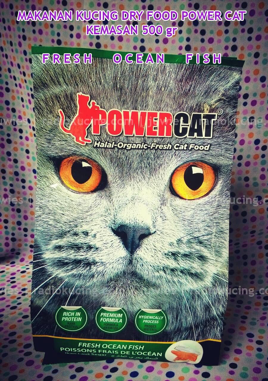 Review Makanan Kucing Kering Dry Food Power Cat Kemasan Fresh Ocen Fish Ikan Laut Segar Radiokucing Com