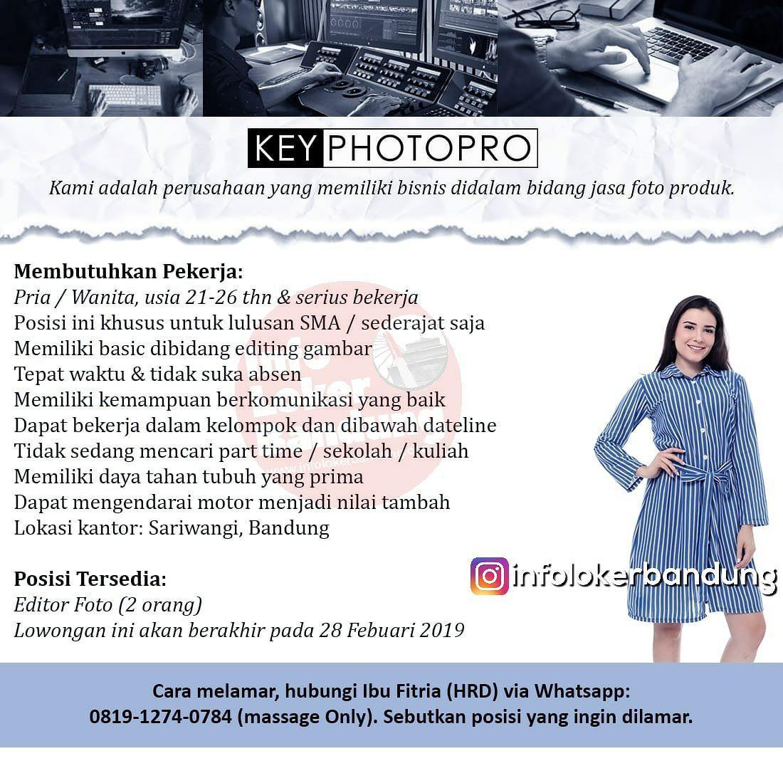 Lowongan Kerja Key Photopro Bandung Februari 2019