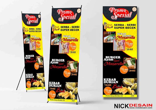 Contoh Desain Standing Banner Kebab Turki - Percetakan murah tanjungbalai