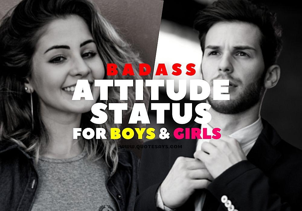 Attitude Status, Attitude Status for Boys, Attitude Status for Boys, Attitude Status for Girls Attitude Captions