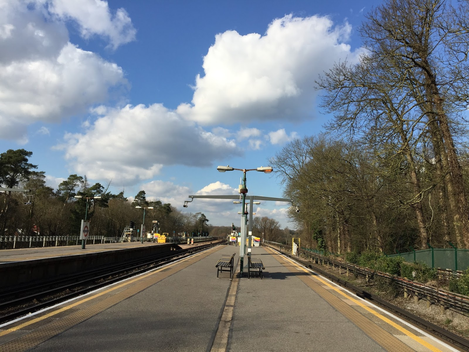 The view, looking northwards from Moor Park tube station