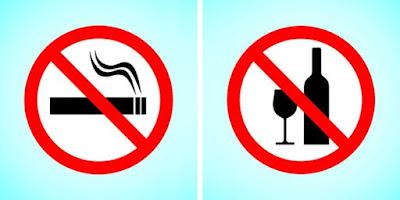 Tidak merokok dan alkohol