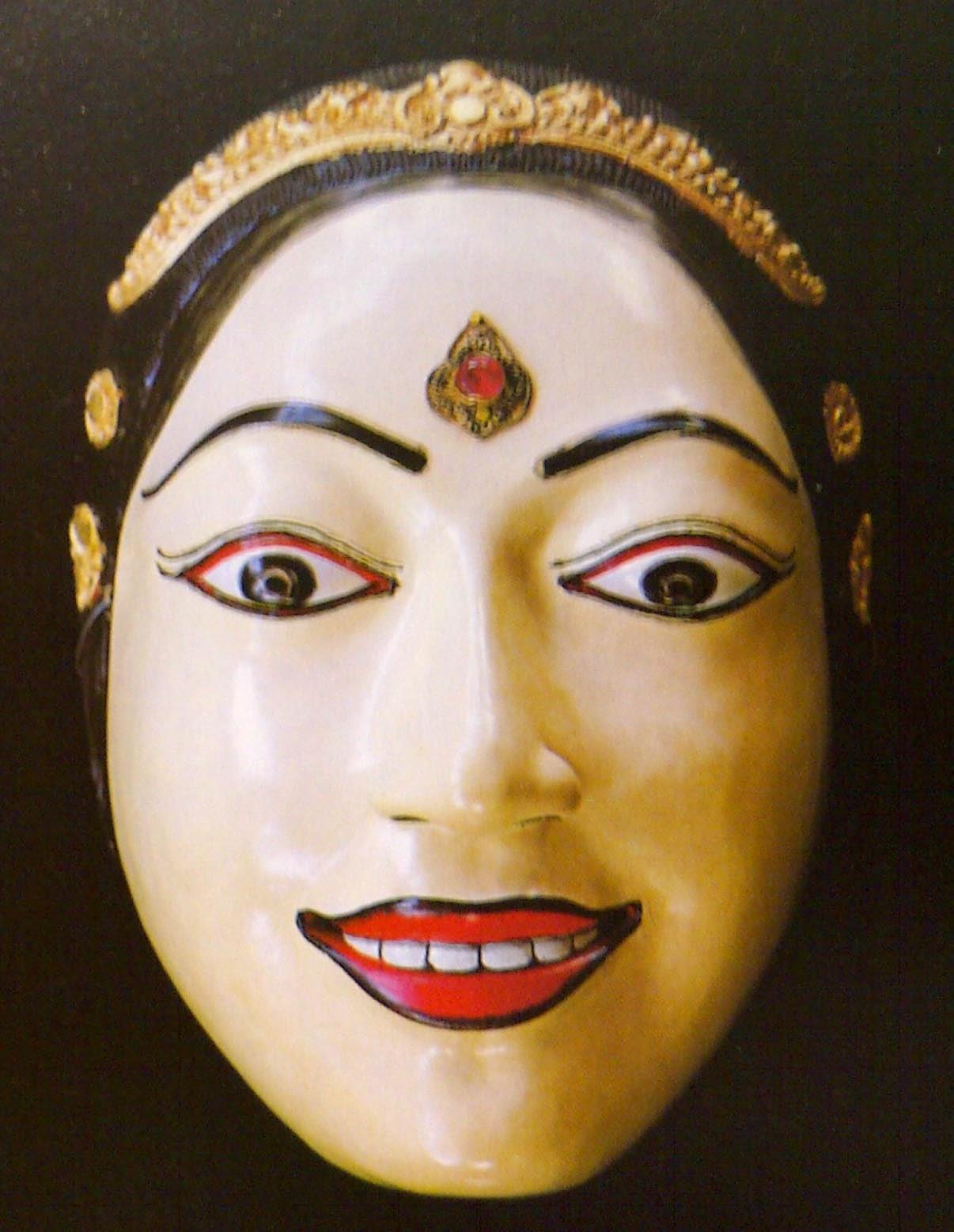 Gambar Topeng Tradisional Bali Wanita Seni Budaya Indonesia