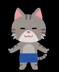 水着の動物のキャラクター(猫の男の子)