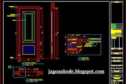Detail Pintu Gambar Kerja Autocad File Dwg