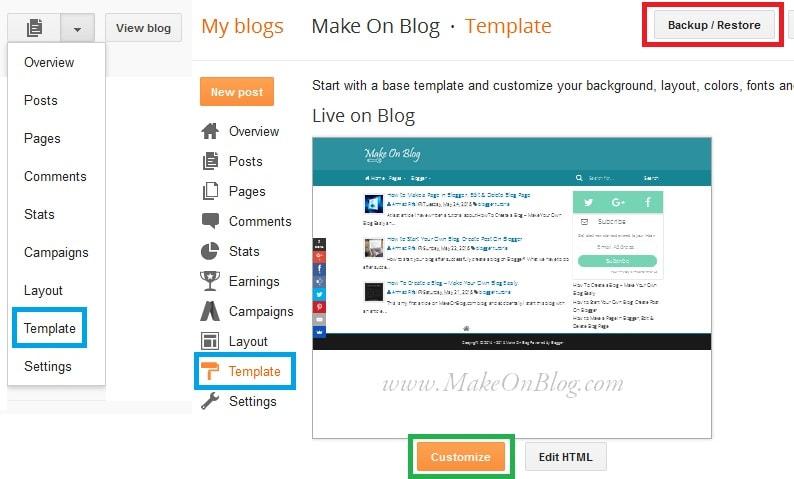 How to Change Blogger Template, Choosing, Uploading, & Designing ...
