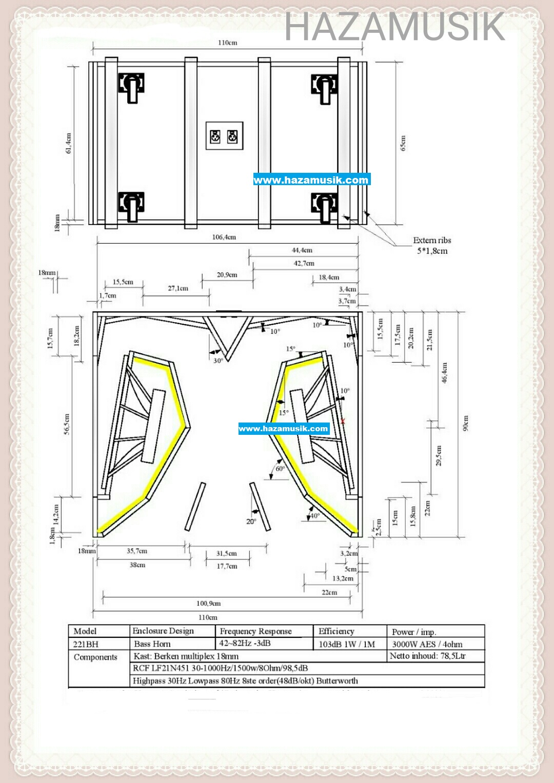 skema box speaker 21x2 lapangan  HAZA MUSIK