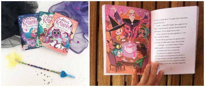Libro infantil con capítulos primeros lectores Anna Kadabra