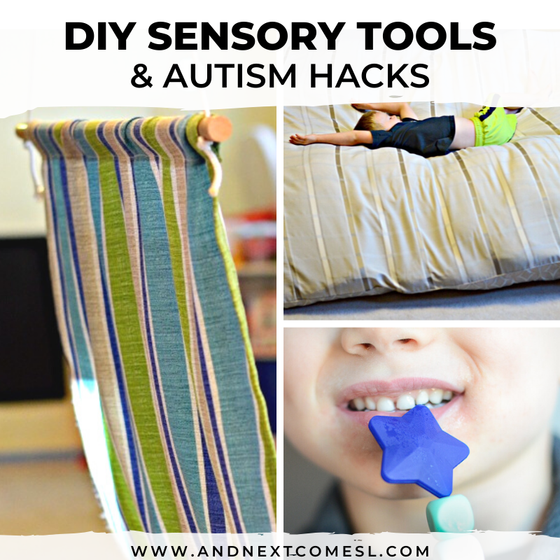 DIY sensory tools and autism hacks