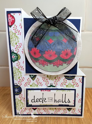 Beautiful Baubles, Under the mistletoe, Stampin' Up, Christmas Card, Heart of Christmas, Art with Heart, Rhapsody in craft