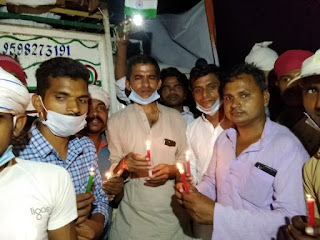 कैंडल मार्च निकालकर शहीद जिलाजीत को दी गयी श्रद्धांजलि  | #NayaSaveraNetwork