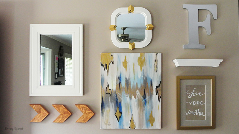 diy, abstract, wall art, painting, easy, how to