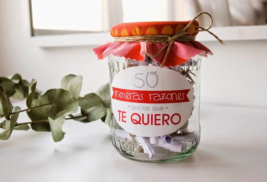 Regalo handmade para San Valentín hecho con bote de cristal 1 mensajes1