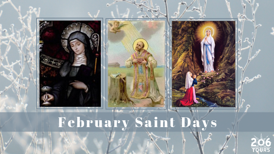 February Saint Days - 206 Tours Blog