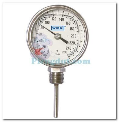 Gambar bimetal termometer