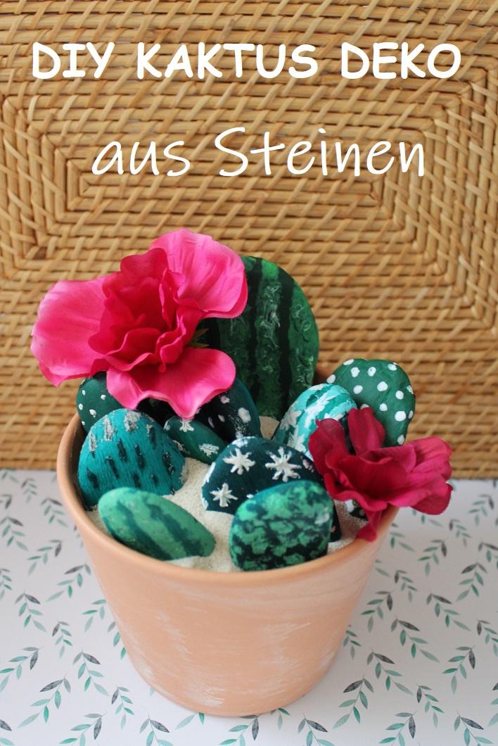Deko Mit Steinen.Fräulein Cinderella Diy Kaktus Deko Aus Steinen