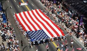 America is celebrating Independence Day today with fireworks and parade