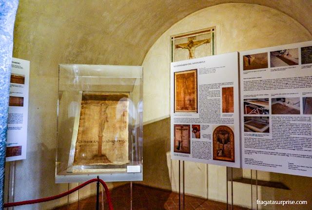 Exposição no antigo alojamento de Savonarola, no Mosteiro de San Marco, em Florença