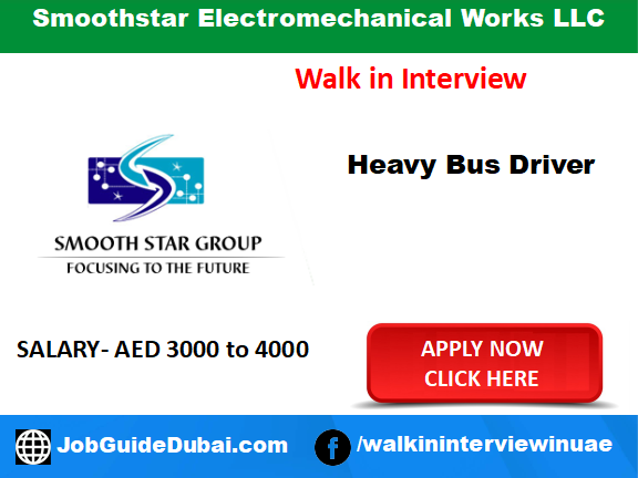 Smoothstar Electromechanical Works LLC career for Heavy Bus Driver job in Dubai
