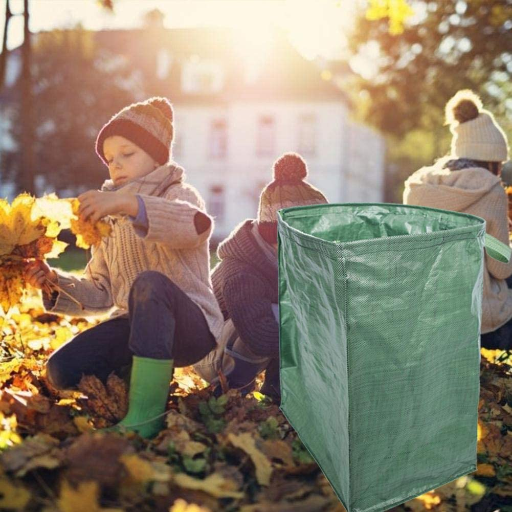 Bolsas reutilizables con hojas secas de jardín
