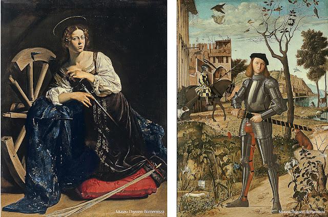 Obras do acervo do Museu Thyssen-Bornemisza, em Madri