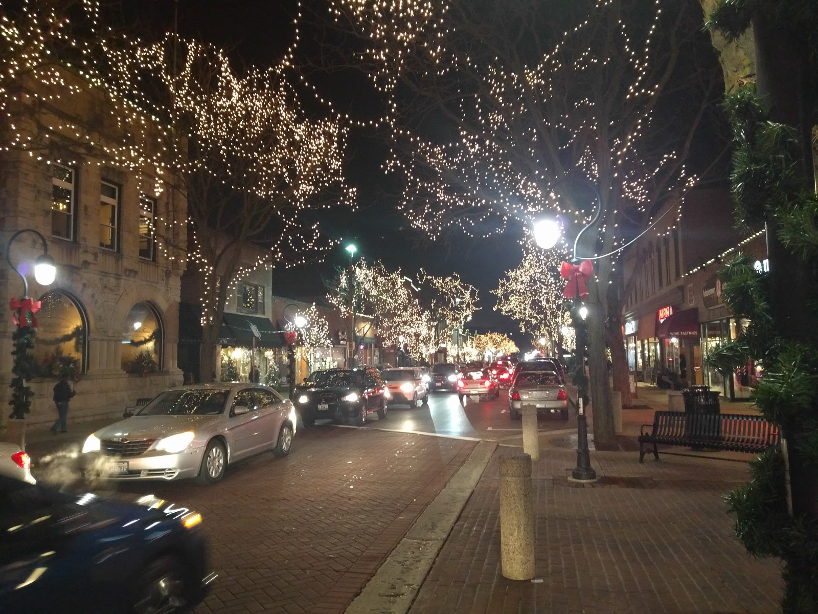 downtown naperville does christmas lights right