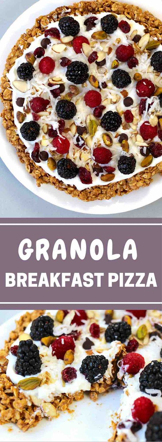 Healthy Granola Breakfast Pizza