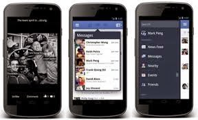 Giao diện mới cho facebook android