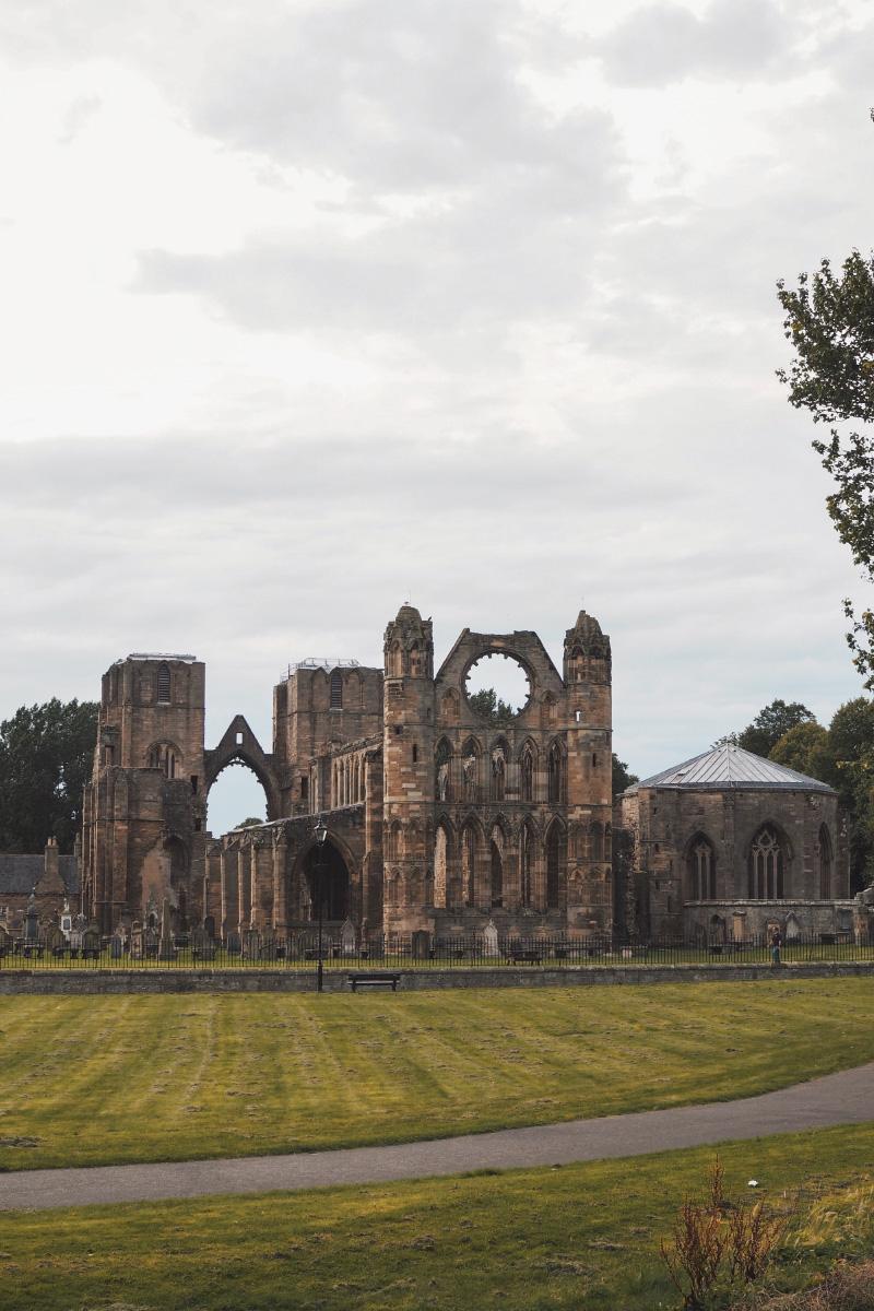 Les ruines de la cathédrale d'Elgin en Ecosse