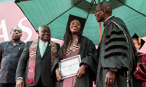 Former Kayayo overcomes odds; honored with Ashesi Presidential Award