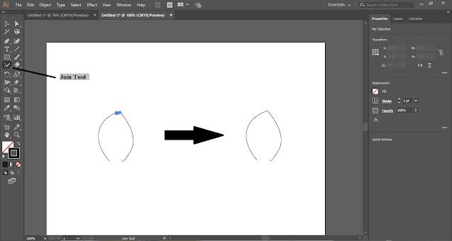 Pencil Tool in Adobe Illustrator