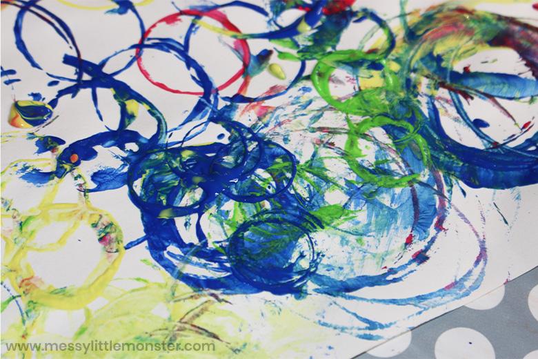 circle process art for kids