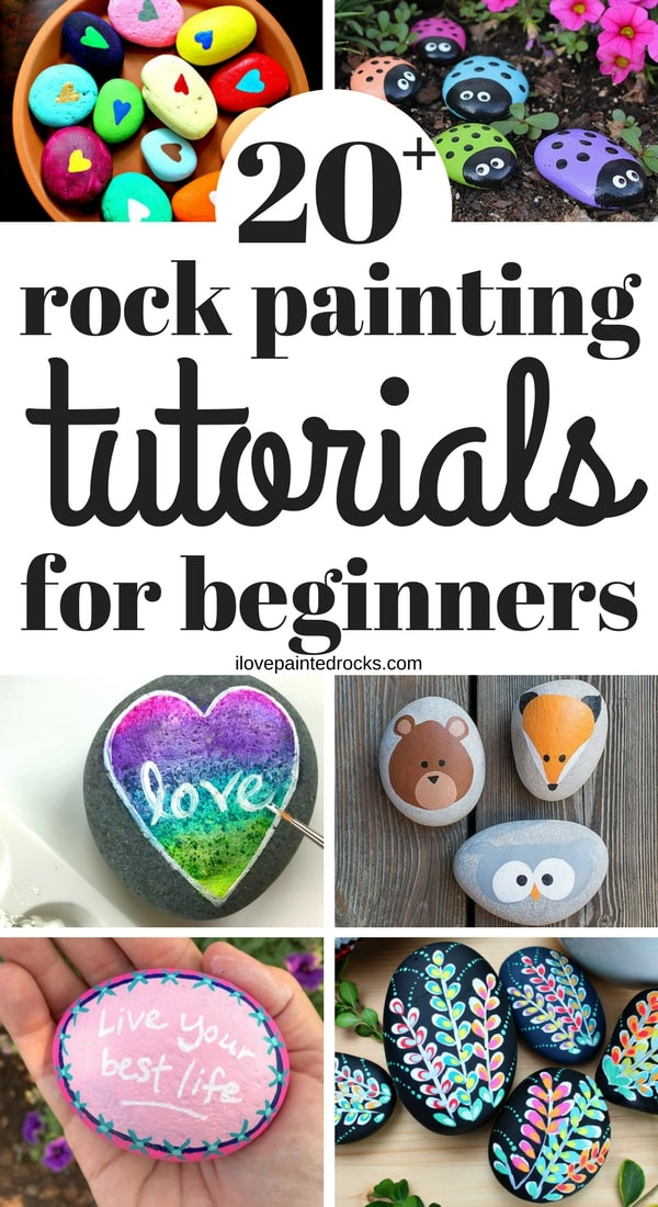 20 rock painting tutorials for beginners #ILovePaintedRocks