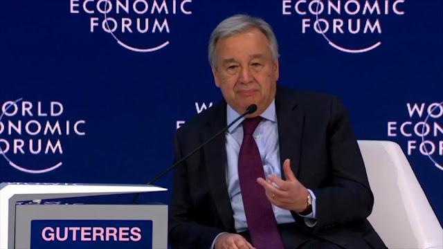 Secretario general de la ONU no se muestra optimista sobre el mundo