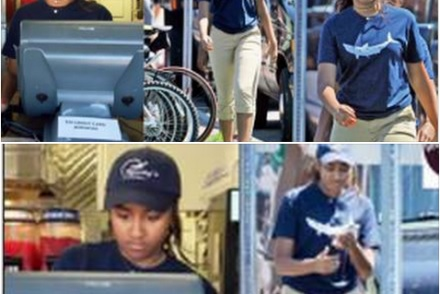 President Obama's Second Daughter, Sasha Takes Up Summer Job At A Restaurant (See Photos)