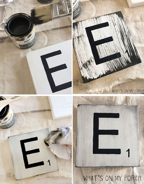 Make your own Scrabble style letter tiles for your family names