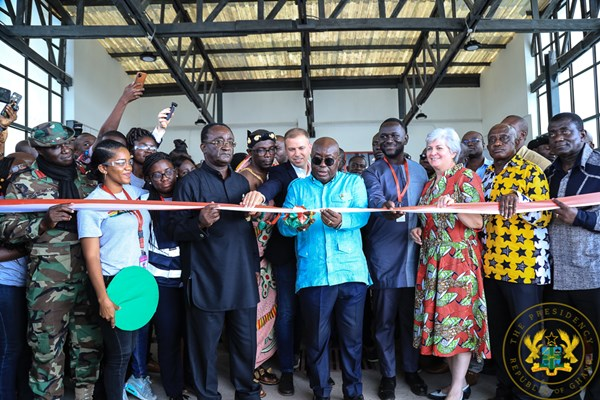 President Akufo-Addo Commissions 2nd Medical Drone Distribution Centre In Mampong.