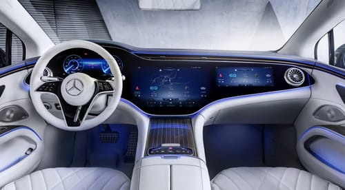 Mercedes EQS includes a 55 inch screen