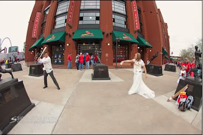 pop up wedding at busch stadium