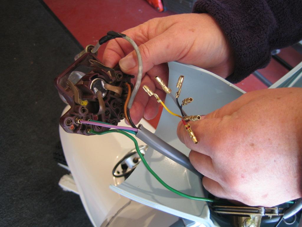 Lambretta Wiring Diagram With Indicators Travel Trailer Restoration Adding Lights Switch Headset