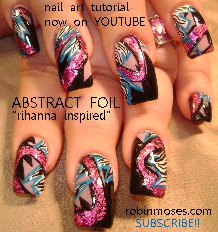 Nail Art By Robin Moses Diva Nails Party Girl Nails Swag Nails