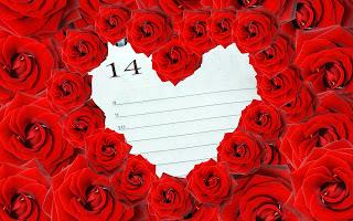 ورد جوري احمر قلب
