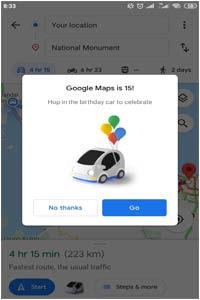 Tampilan Penunjuk Arah 'Mobil Mini' Google Maps