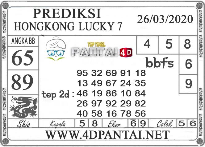 PREDIKSI TOGEL HONGKONG LUCKY 7 PANTAI4D 26 MARET 2020