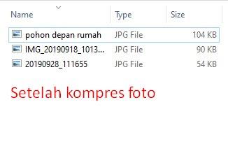 kompress foto sekaligus